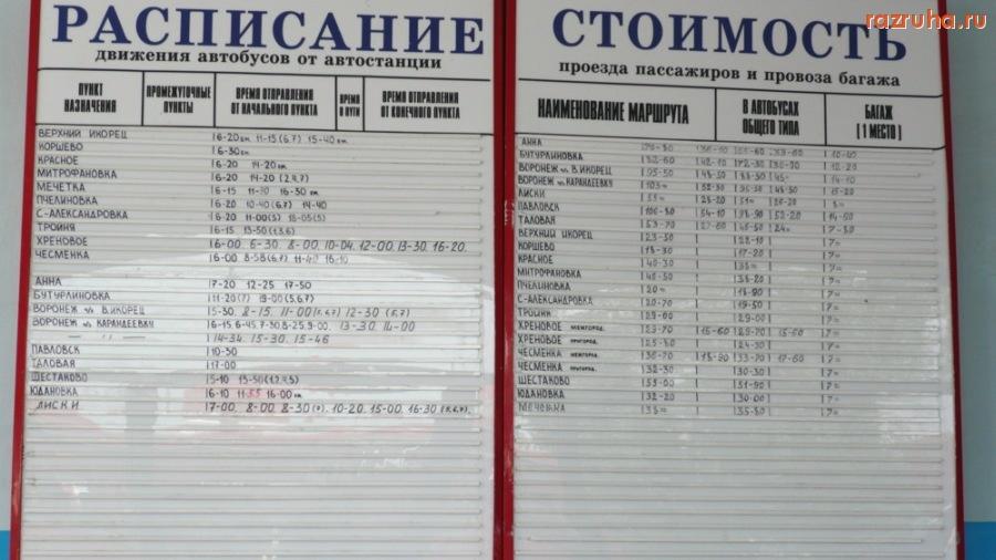 Расписание автобусов нижний икорец